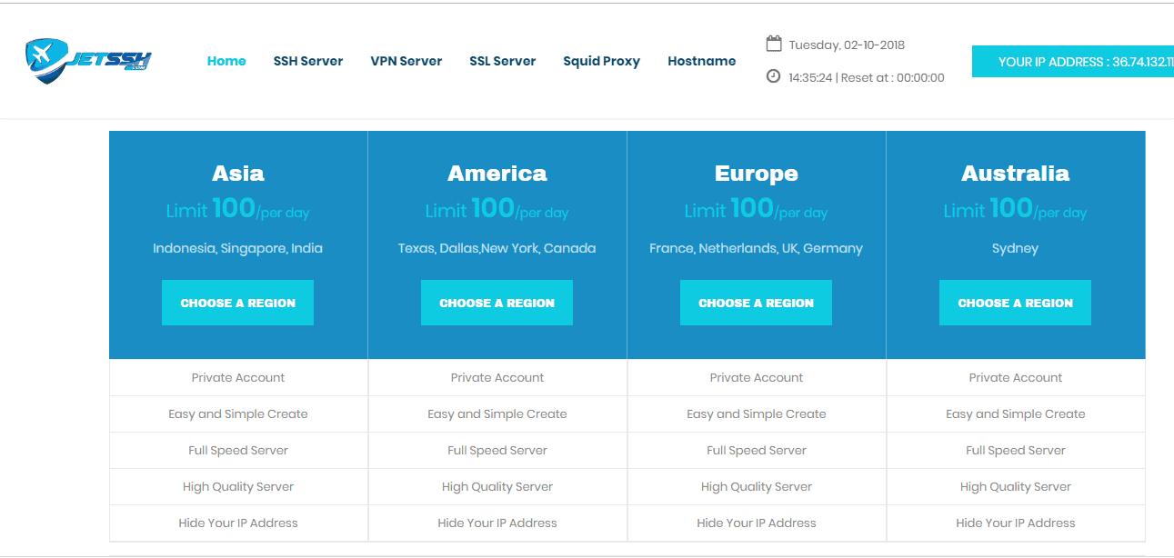 Cara membuat akun SSH dan 9 Situs membuat akun SSH Gratis