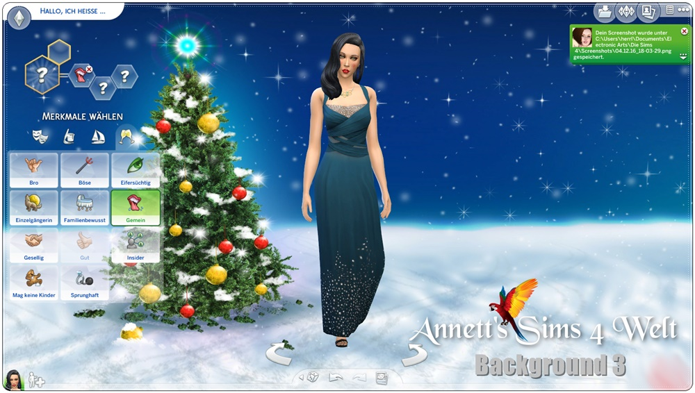 annett 39 s sims 4 welt cas backgrounds christmas 2016. Black Bedroom Furniture Sets. Home Design Ideas