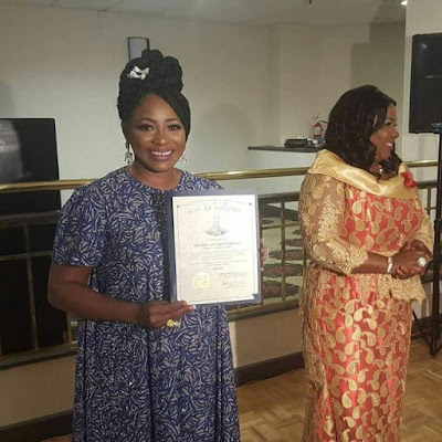 Nollywood's Clarion Chukwurah honoured with humanitarian award in US (Photo)