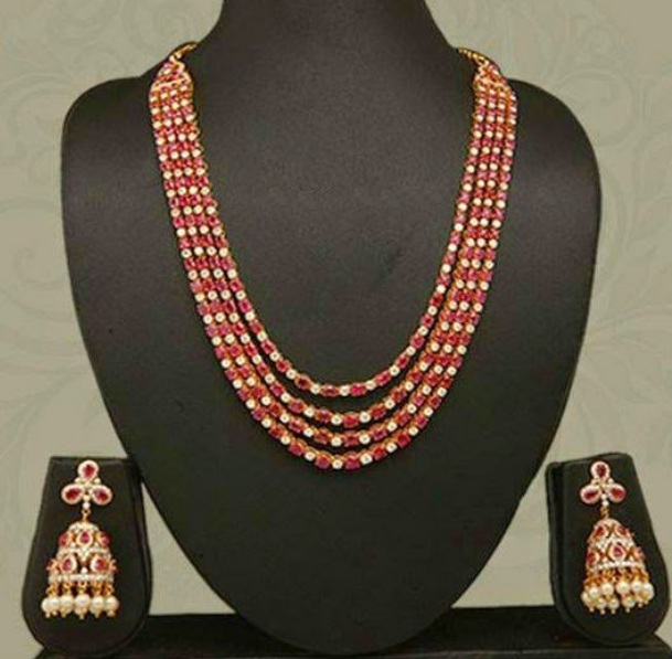 Ruby Stones Necklace Design Collections