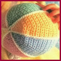 Pelota bebé crochet
