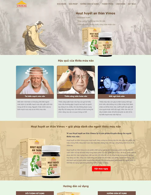 Template blogspot landing page bán thuốc