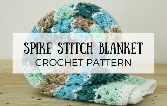 Spike stitch blanket, crochet blanket | Happy in Red