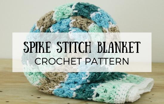 Spike stitch blanket, crochet blanket | Happy in Red