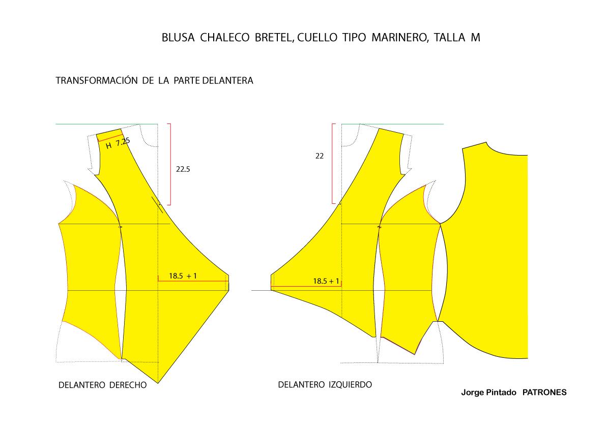 TUTORIAL DE SASTRERIA TECNICA FEMENINA Y MASCULINA : BLUSA CHALECO ...