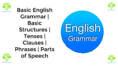 Basic English Grammar, Tenses, Clauses, Phrases, Part of Speech, Basic Structures, Types of Sentences, Punctuation,  Paragraph Writing, Rule of Capitalization's