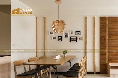 Thế Giới Đèn Gỗ - 8 mẫu đèn trang trí gỗ cho phòng ăn đẹp lung linh 6