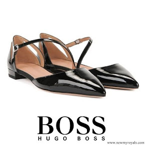 Queen Letizia wore Hugo Boss Bella Ballerina Pumps