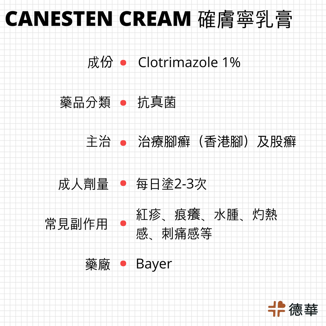 確膚寧乳膏 Canesten cream 1%