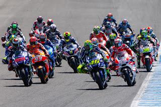 Largada de una carrera en MotoGP, Calendario de MotoGP