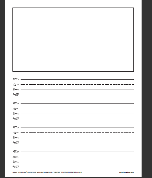 Writing Paper Template With Picturebox
