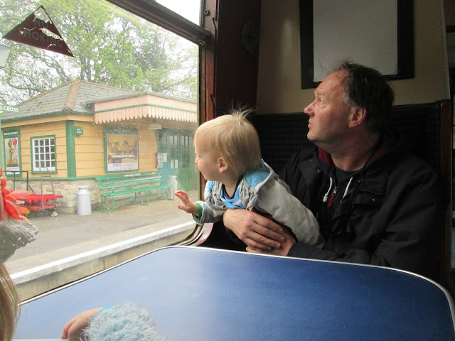 Alexander's first steam train experience with Pop Pops