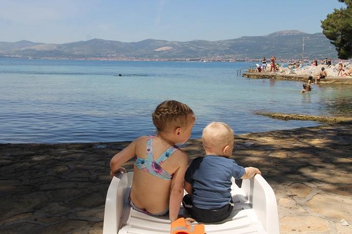Split, Kroatia, uimarannat lasten kanssa
