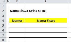 Tutorial Membuat List Nomor Urut Di Excel