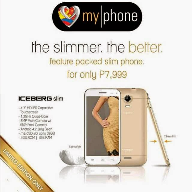 MyPhone Iceberg Slim: Android HD Quad-Core Smartphone For Php7,999