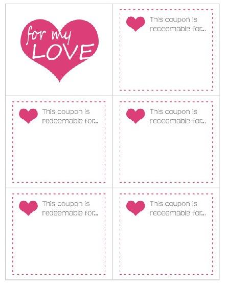 Dia San Valentin Amor Cupones De Con De