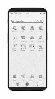 Tema Oppo Foto Sketch Untuk Oppo A83, F5, A3S, A3, A5, F7 dan Realme