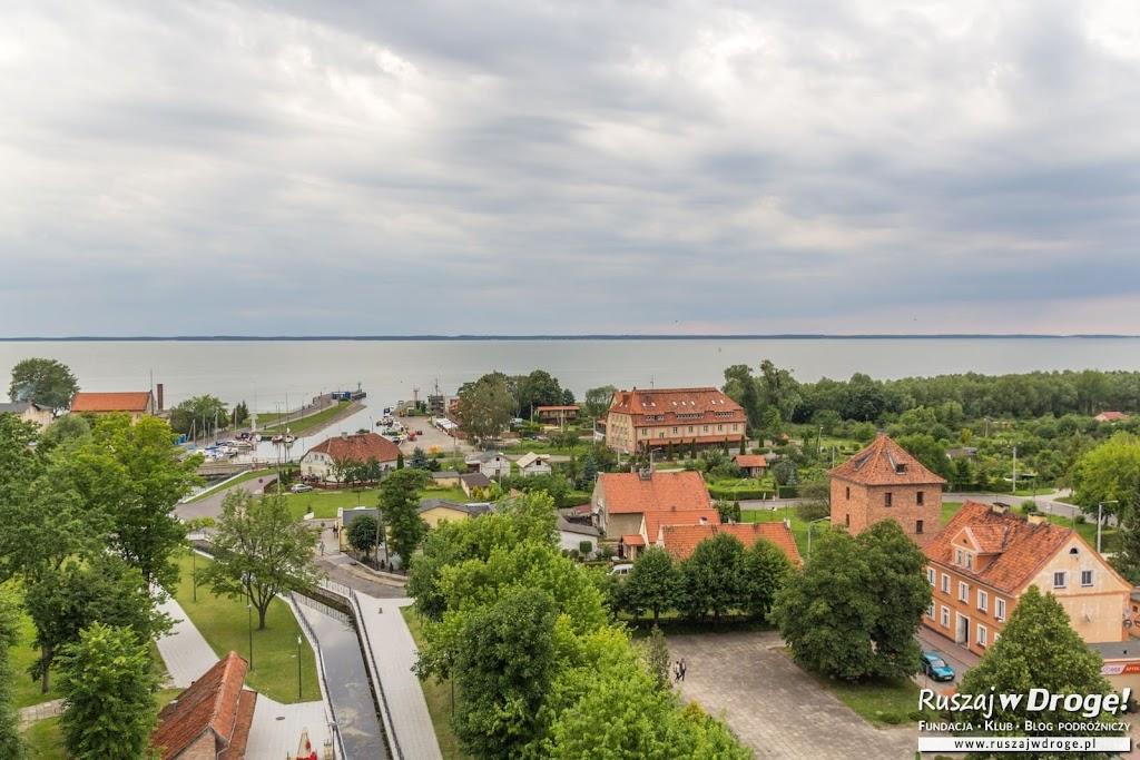 Widok z Wieży Wodnej na Port we Fromborku