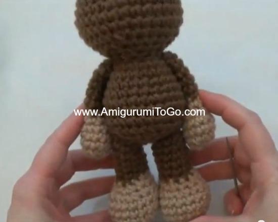 Amigurumi Freely Fb : Little bigfoot monkey revised pattern video tutorial ~ amigurumi to go