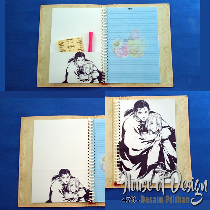 KANTONG BINDER 26 RING UKURAN B5 ANIME LINE ART CUSTOM MURAH