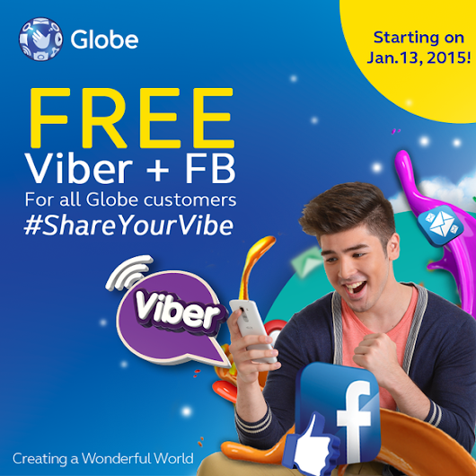 Free Facebook + Viber from Globe starts January 13, 2015