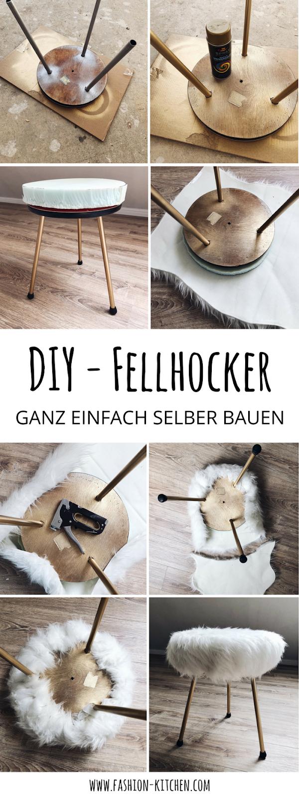 DIY - Fellhocker ganz einfach selber bauen | Fashion Kitchen ...
