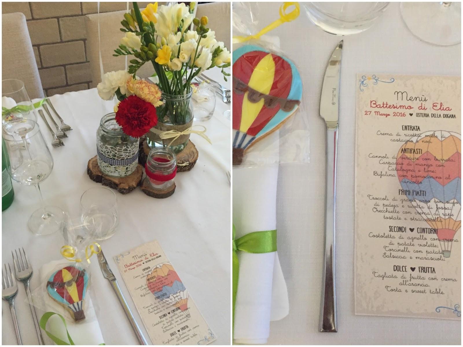 Top Sweet Table del battesimo a tema Mongolfiere. • Tra Rock e Ninna Nanne OX68