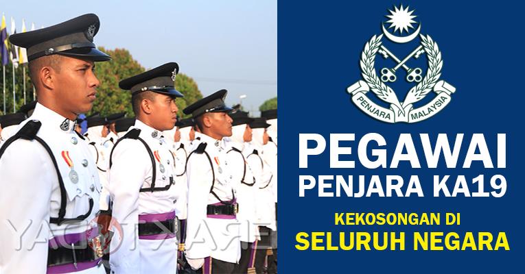 Pegawai Penjara KA19 di Jabatan Penjara Malaysia