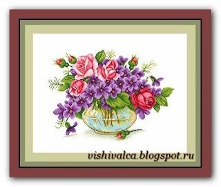 "Download embroidery scheme Сделано с любовью ЦВ-040 ""Букетик грёз"""