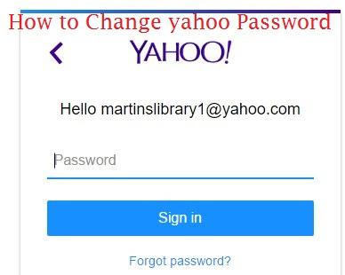Reset yahoo password