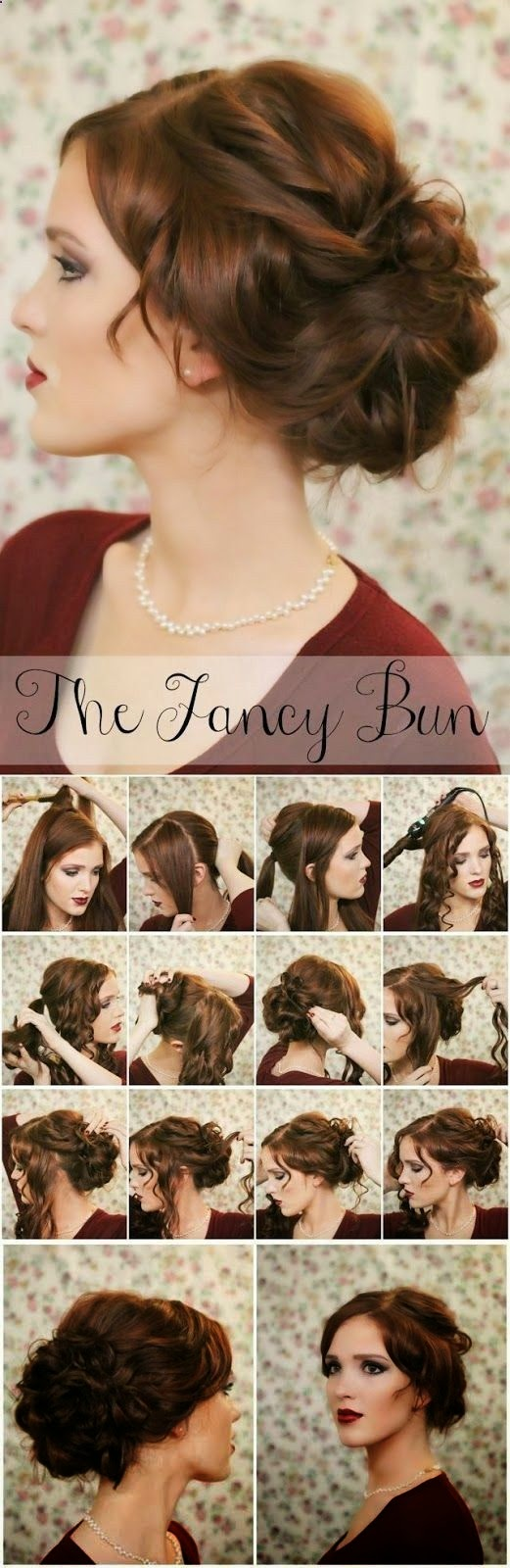 Easy Simple Knotted Bun Updo Hairstyle Tutorials