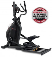 """Bodyguard E40 Elliptical Cross Trainer, with commercial-grade components, precision balanced 50 lb flywheel for incredibly smooth momentum, 20"""" stride length, turn-dial resistance knob, X-Comfort footpads, biomechanically correct footplates"""