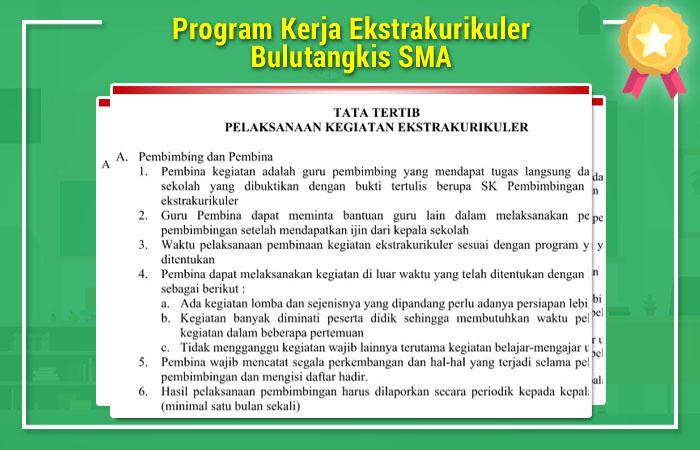 Program Kerja Ekstrakurikuler Bulutangkis SMA
