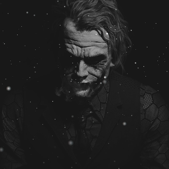 Dark Foggy Snowy Joker Wallpaper Engine