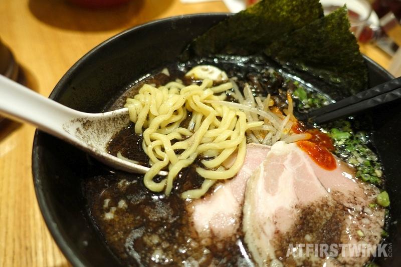 Ippudo Queensway Plaza Admiralty Hong Kong special kuro ramen ultra thick noodles