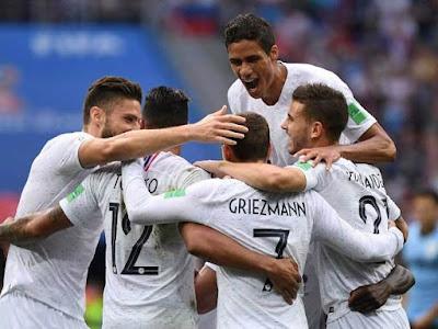 Highlight Uruguay 0-2 Perancis, 6 Juli 2018