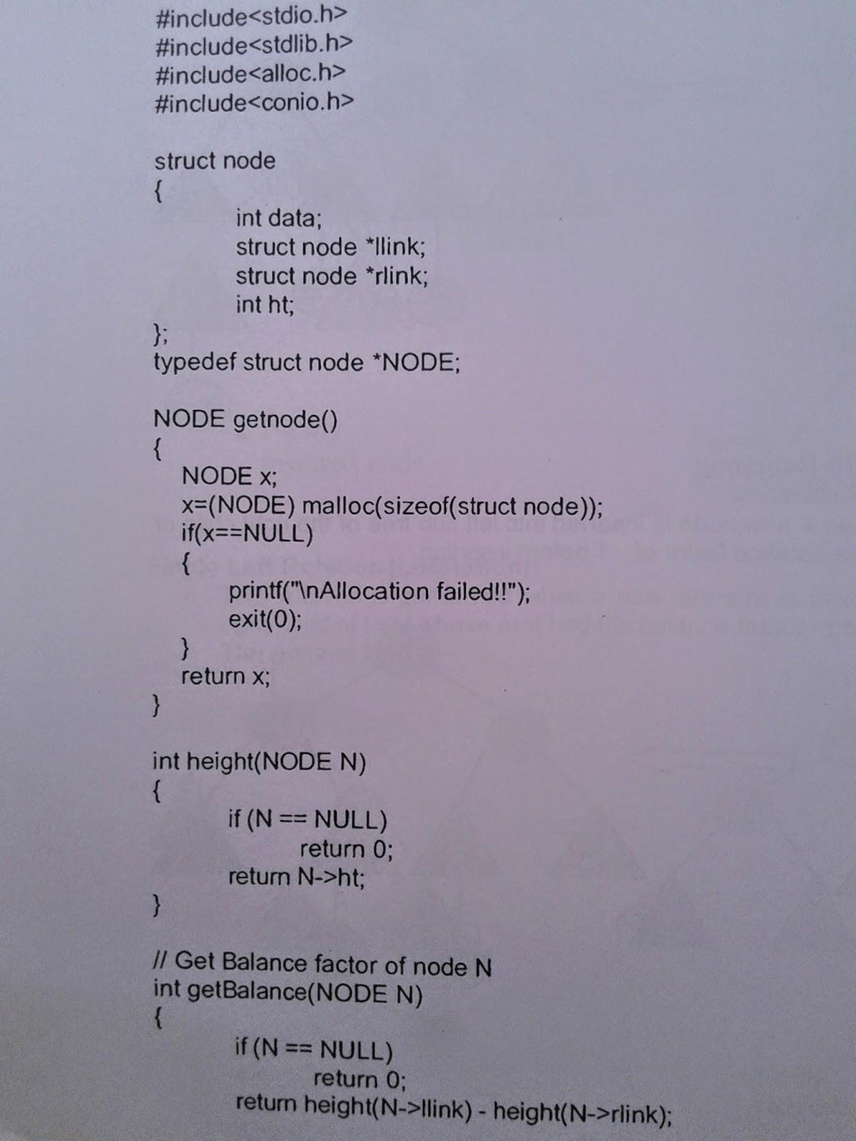 C++ Program for implementing Dictionary ADT using AVL Tree