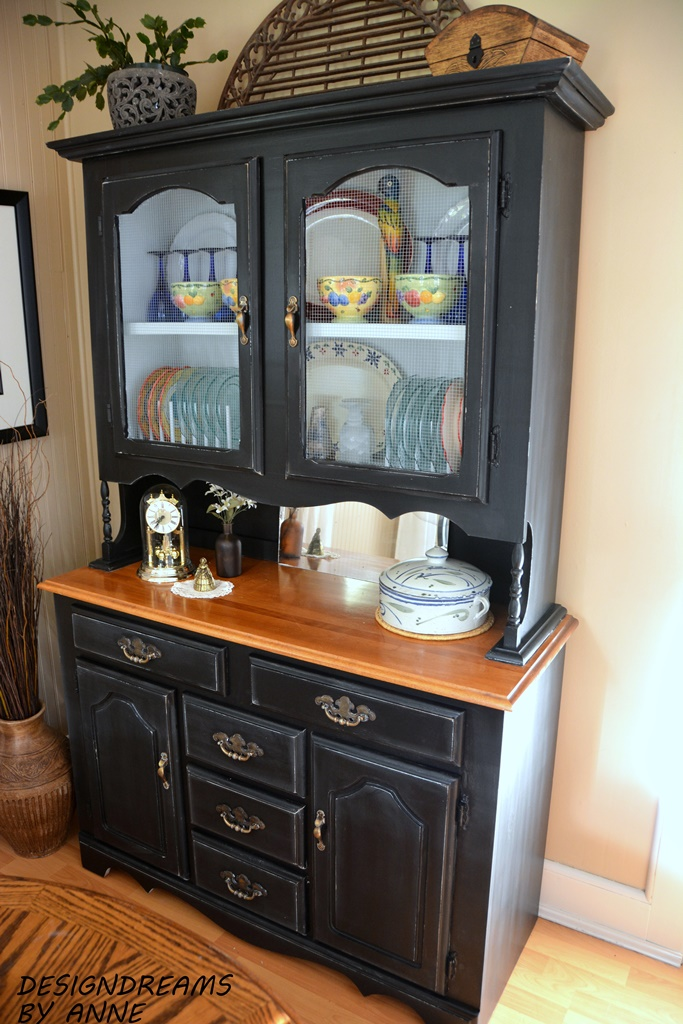 designdreams by anne my dream dining room the black hutch awesome black dining room hutch photos ltrevents com