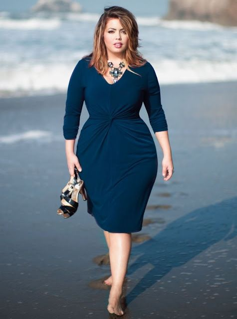 vestido azul gorditas