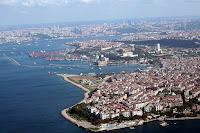 İstanbul'un Anadolu yakası üstünden kuş bakışı bir fotoğrafı