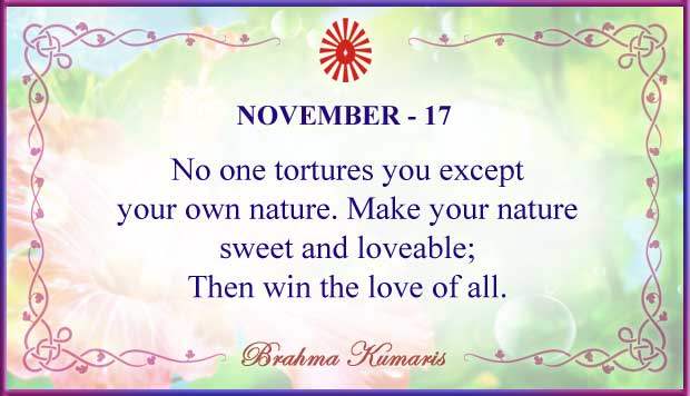 Thought For The Day November 17