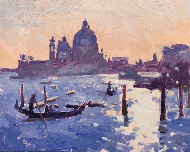 #395 'Evening Sparkle, The Grand Canal' 8×10″