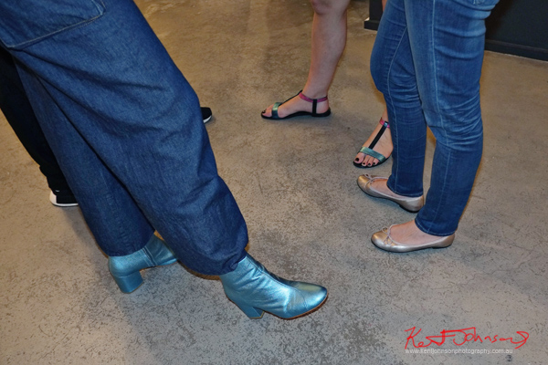 Street fashion, metallic shoes, boot, ballet pump, sandal, seen at Arthouse.