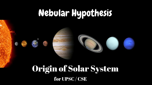 nebular hypothesis | origin of the solar system