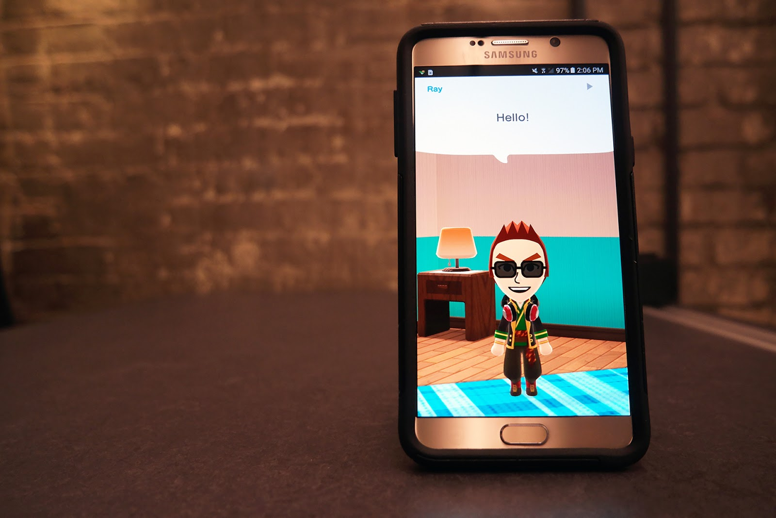 Miitomo running on Samsung Galaxy Note 5 =
