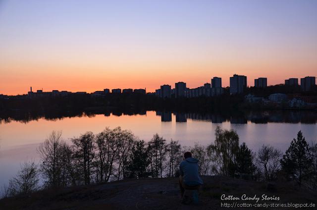 Sonnenuntergang am Järlasjön Stockholm