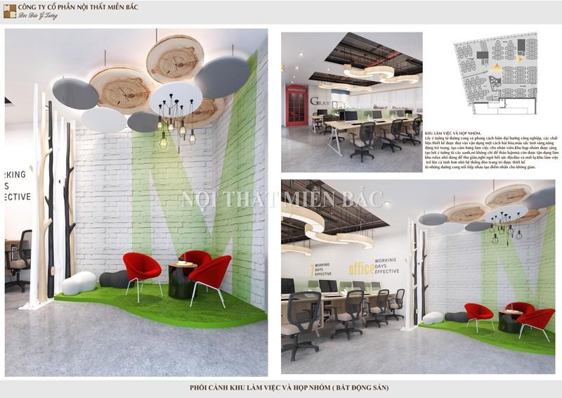 Công ty thiết kế nội thất văn phòng tạo không gian làm việc hiệu quả