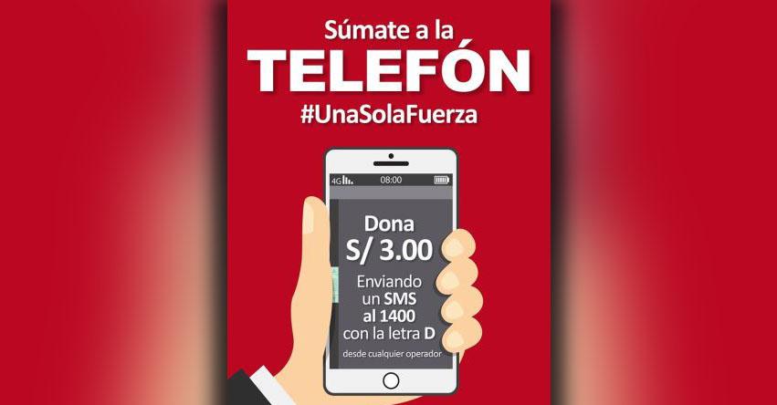 TELEFÓN: Sepa cómo donar con mensaje de texto - SMS #UnaSolaFuerza