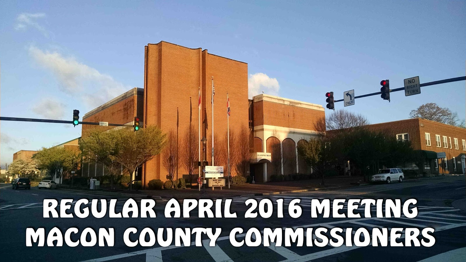 Regular April 2016 Meeting of the Macon County Commissioners