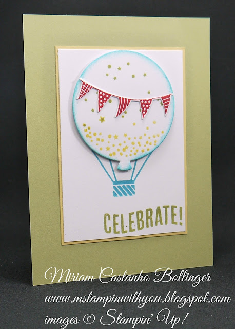 Miriam Castanho-Bollinger, #mstampinwithyou, stampin up, demonstrator, dsc, birthday card, children, celebrate today stamp set, balloon framelits, big shot, su